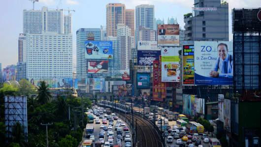 Makati City in Manila, Philippines