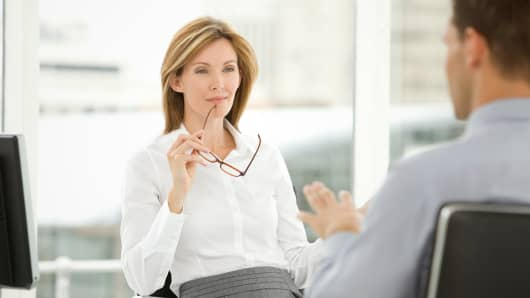 employment female job interview
