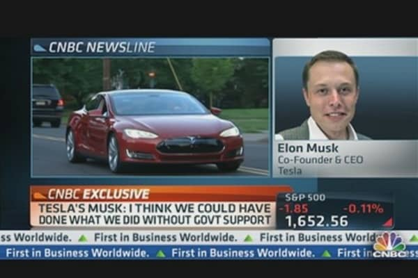 Tesla CEO on Race to Expand Superchargers