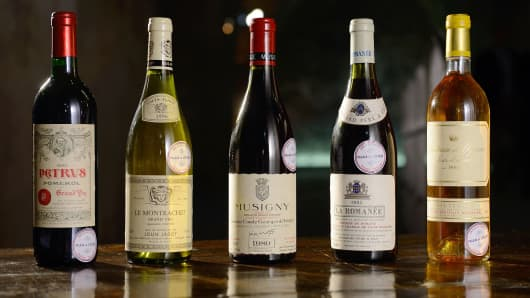 Bottles of the finest wine from the cellars of the Elysee Palace went up for auction on May 30, 2013.