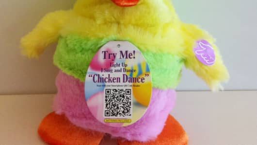"The Dan-Dee ""Chicken Dance"" Easter Chicken is being recalled for being too loud."
