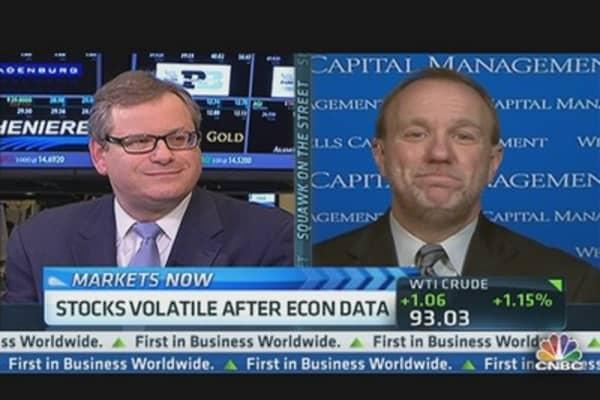 Stocks Volatile After Weak Econ Data