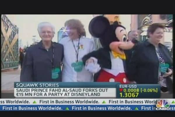 Saudi Prince Drops $20 Million at Disneyland