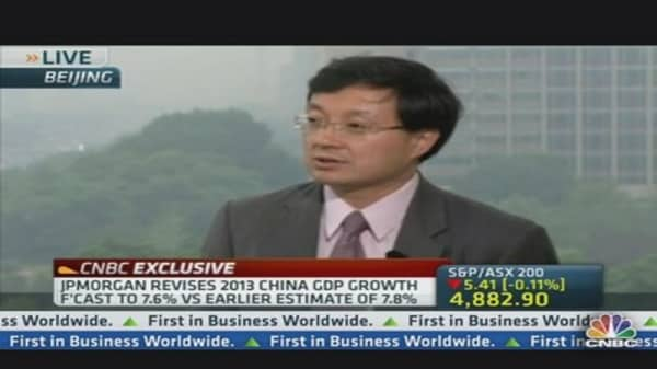 JPMorgan Lowers China 2013 Growth Forecast