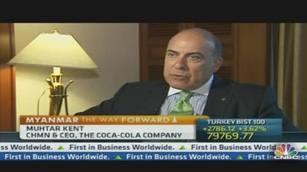 Myanmar 'Wonderful Opportunity' for Coca-Cola: CEO