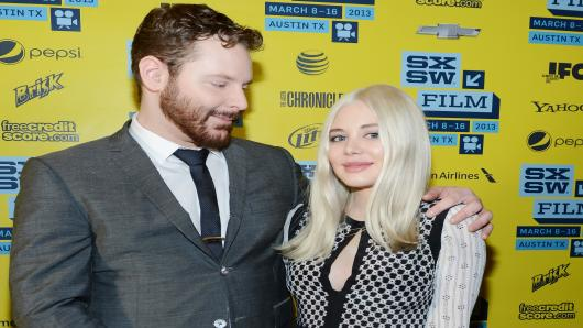 Founder of Napster Sean Parker (L) and fiance Alexandra Lenas attend the World Premiere of 'Downloaded' during the 2013 SXSW Music, Film + Interactive Festival at Paramount Theatre in Austin, Texas.