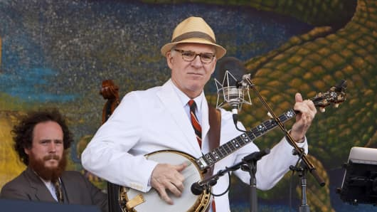 Actor, comedian, writer, playwright, producer and banjo musician Steve Martin.