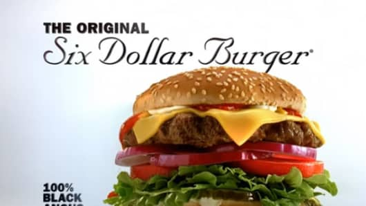 Carl's Jr.'s Six Dollar Angus Burger.