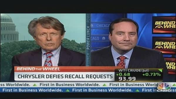 Chrysler Defies NHTSA Recall Request