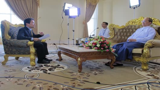 CNBC's Martin Soong speaks to Myanmar President Thein Sein