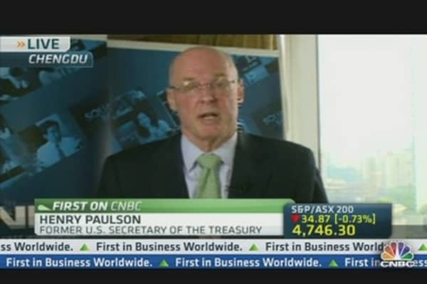 China Needs to Change Economic Model: Henry Paulson
