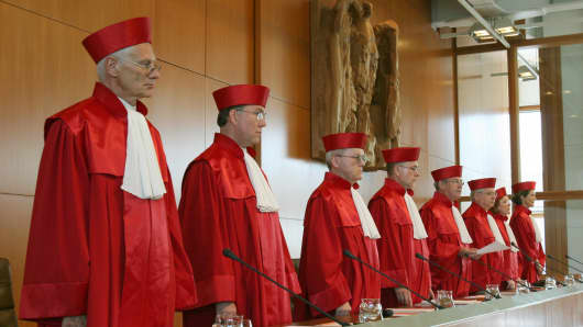 The judges of Germany's constitutional court.