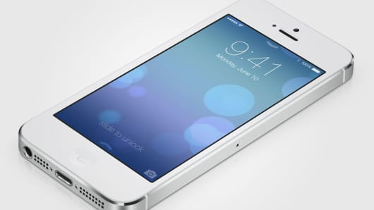 Apple launches ios 7 on the iPhone.