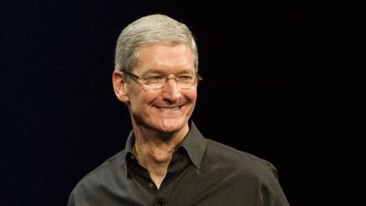Tim Cook speaks at WWDC 2013 in San Francisco.