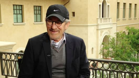 Steven Spielberg speaks to CNBC's Julia Boorstin on the future of film and technology.