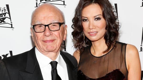 Rupert Murdoch and his wife, Wendi Deng Murdoch