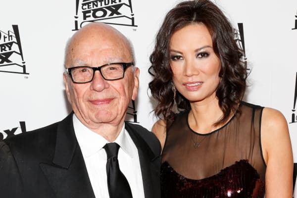 Rupert Murdoch and his wife, Wendi Deng Murdoch