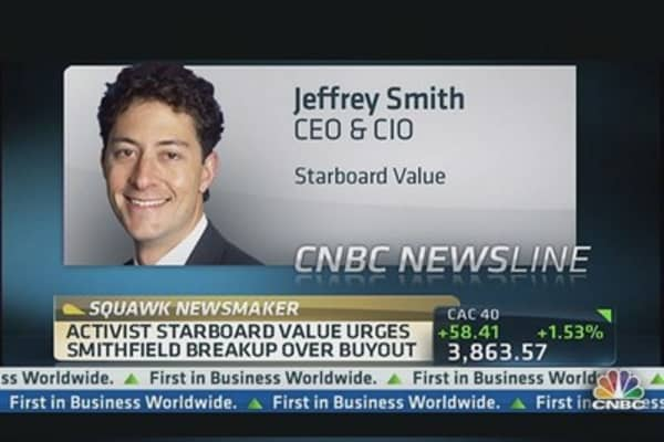 Activist Investor Urges Smithfield Breakup Over Buyout