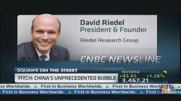 Fitch: 'Unprecedented' China Bubble Forming
