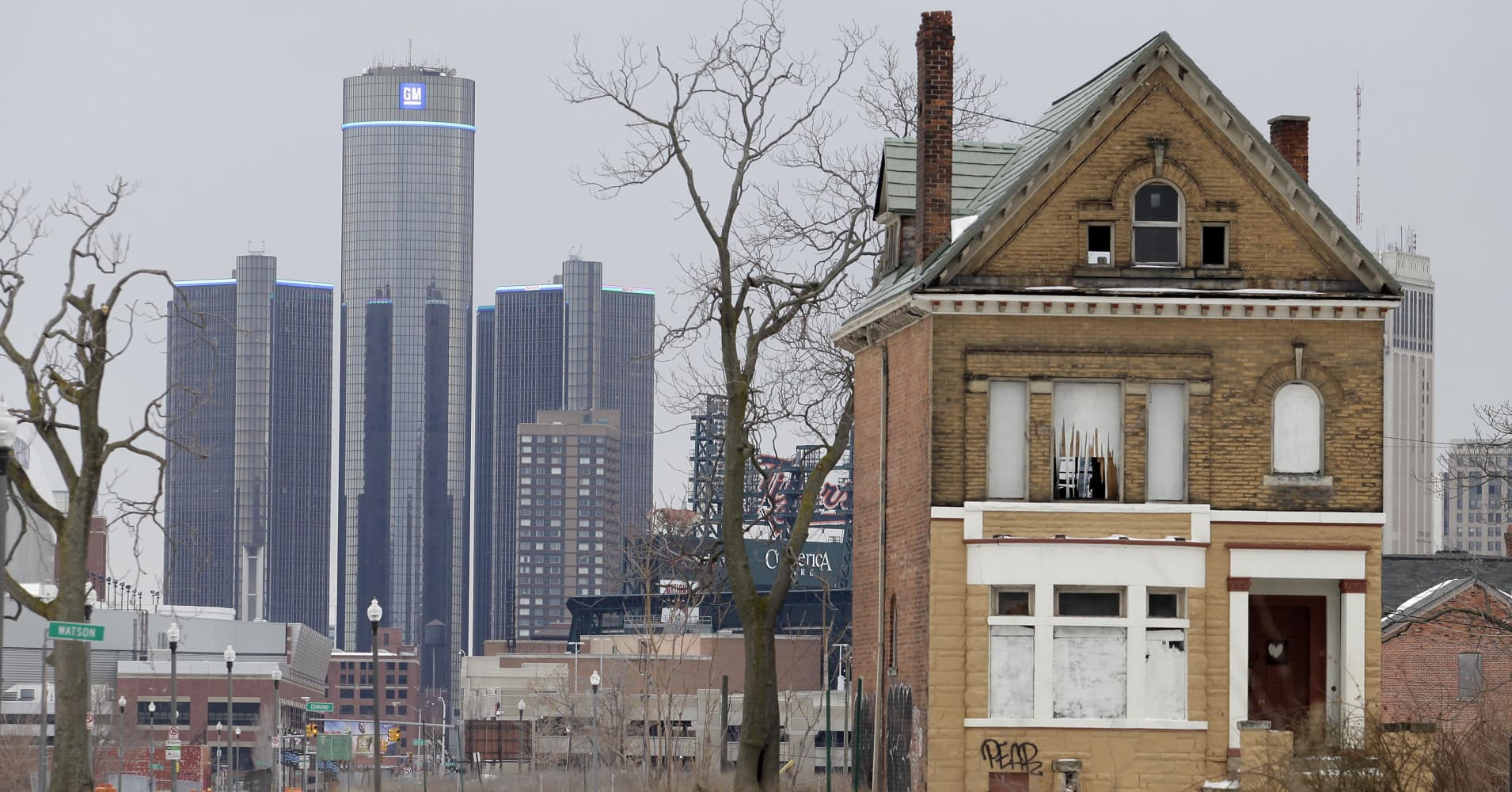 The city of Detroit has faced serious economic challenges in the past decade, with a shrinking population and tax basewhile trying to maintain essential services.