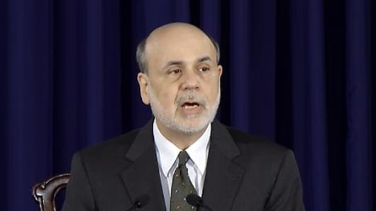 Federal Reserve Board Chairman Ben Bernanke speaks to the press on June 19, 2013.