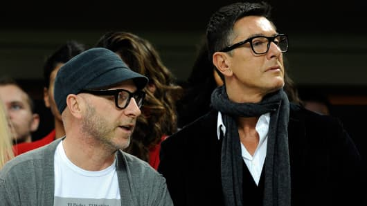 Fashion designers Domenico Dolce and Stefano Gabbana