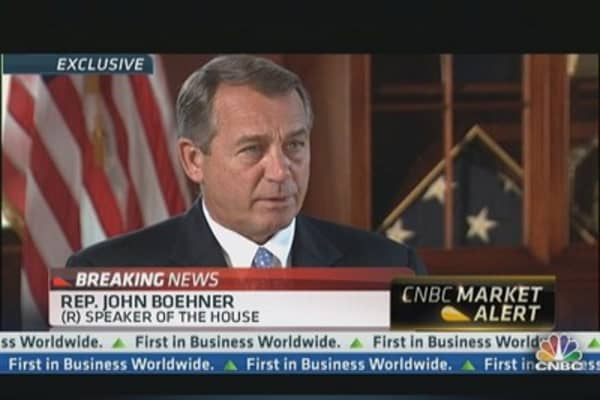 Boehner Blames Bernanke for Sell-Off