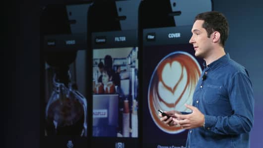 Instagram CEO Kevin Systrom announced that its new product will let users take and share video.