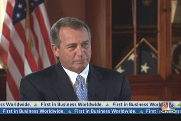Boehner: 'We're Stifling Economic Growth'