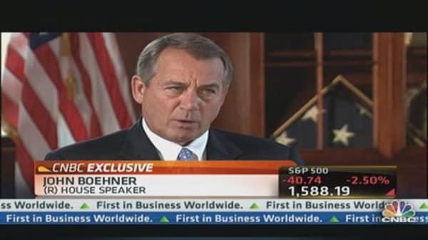 Boehner: QE Is Over the Top