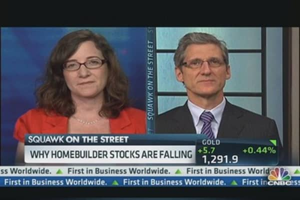 Why Home Builder Stocks Are Falling