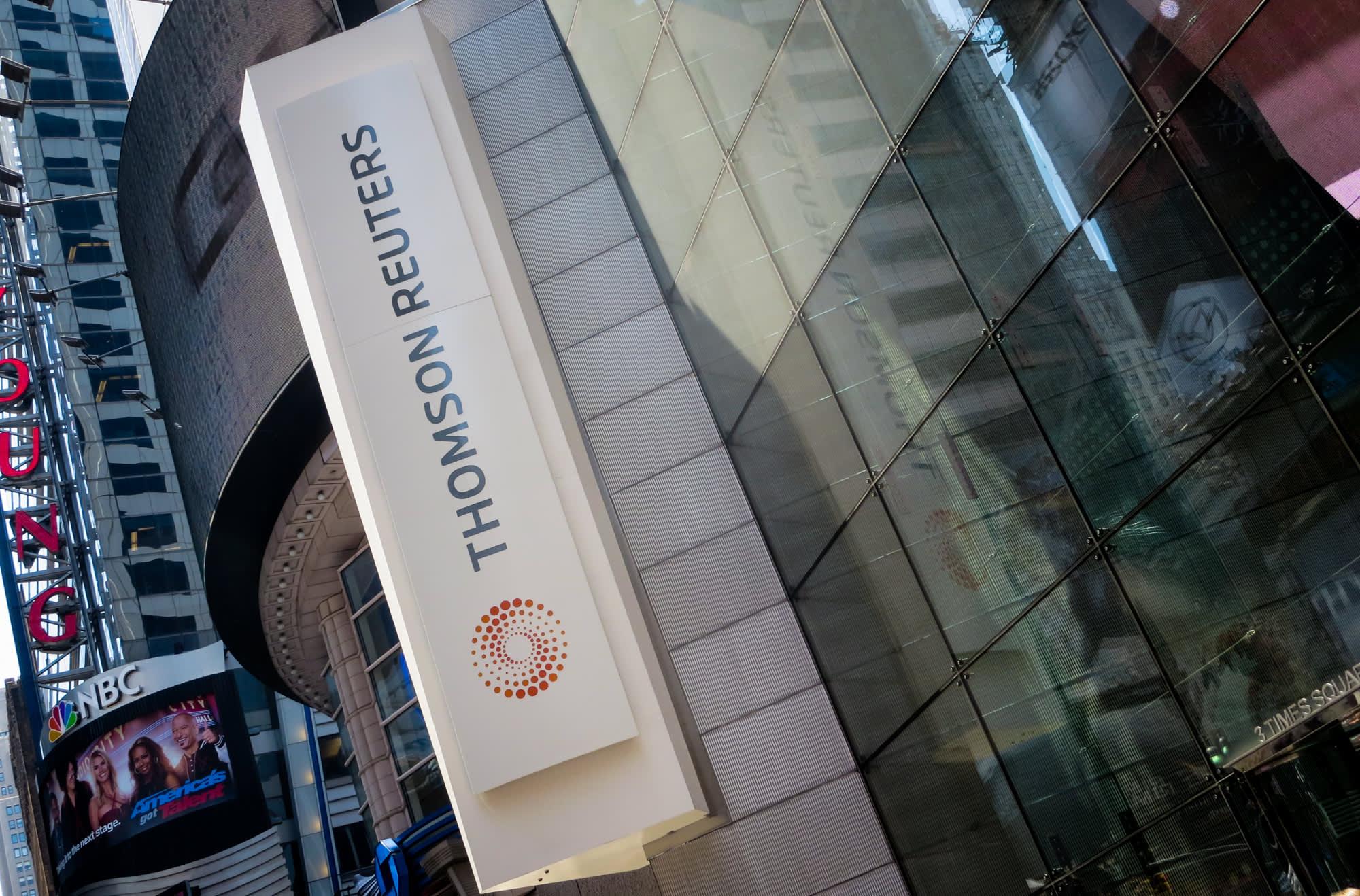 Thomson Reuters Surges After 9 Billion Stock Buyback Announcement