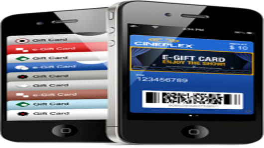 Graphic of the eGift Card on screen