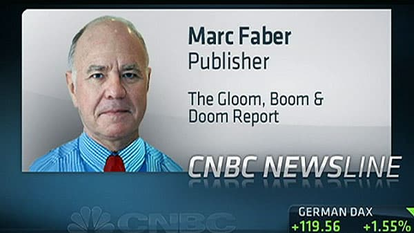 Marc Faber: S&P Could Drop 30% From High