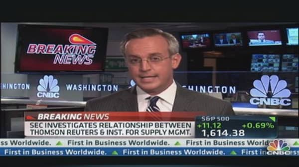 SEC Investigates Thomson Reuters/ISM Relationship