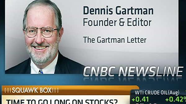 Gartman: Gold Probably 'Seen Its Worse'