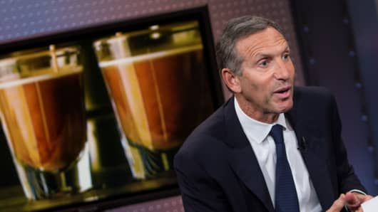 Howard Schultz, chairman and CEO of Starbucks