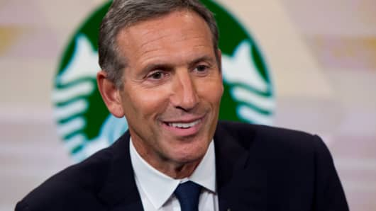 Howard Schultz, chairman and former CEO of Starbucks