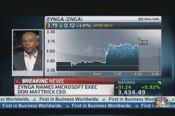 Don Mattrick Named CEO of Zynga