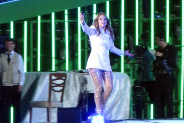 U.S. pop diva Jennifer Lopez performs at Avaza in Turkmenistan on June 29, 2013