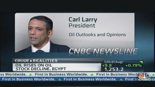 Oil Prices Rise on Egypt Unrest