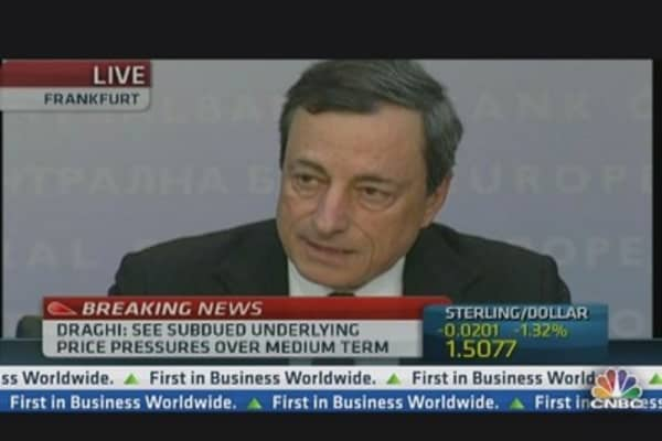 Draghi: ECB Will Remain Accomodative