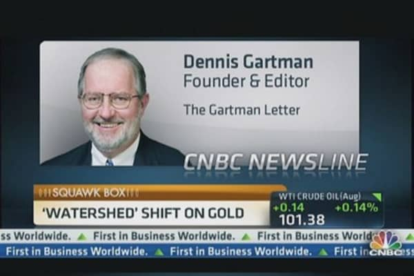 Gartman's 'Watershed' Shift on Gold