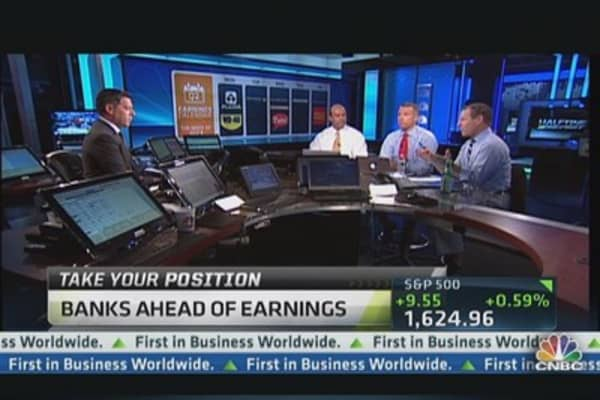 Bank Plays Ahead of Earnings