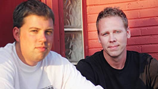 Rappahannock Oyster Co. owners Travis and Ryan Croxton.
