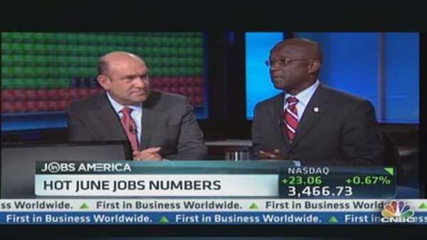 Hot June Jobs Numbers