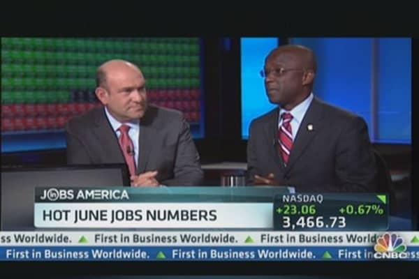 Hot June Jobs Numbers