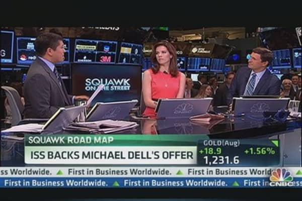 ISS Backs Michael Dell's Offer