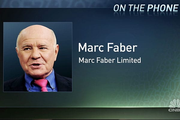 Marc Faber: Equity Valuations No Longer Inexpensive