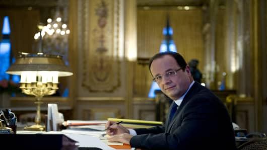 France's President Francois Hollande has an ever growing in-tray